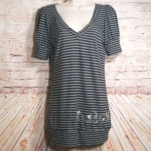 ❤ Juicy Couture | Striped Long Tee NWOT